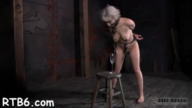 Lovely beauty receives facial torture during sadomasochism play