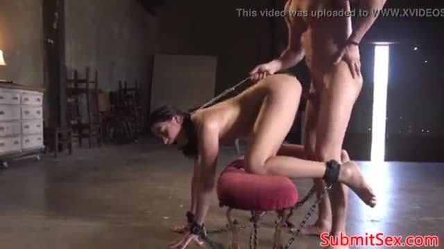 Hairy submissive slut gets assfucked in bdsm