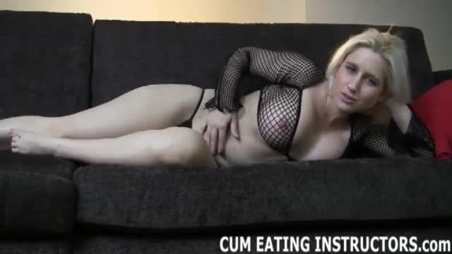 Eating your cum would please your mistress cei